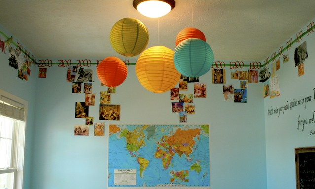 World History Classroom Decorations ~ Bubbles of color in the classroom cheap fun for eyes