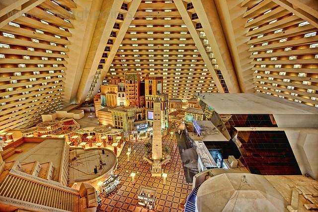 Inside The Luxor From Around The 16th Floor Looking Back