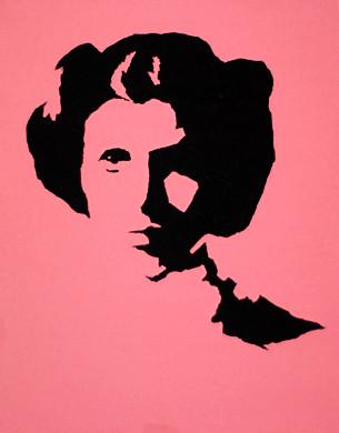 Leia | Acrylic stencil of the Princess | Patrick Bezanson | Flickr
