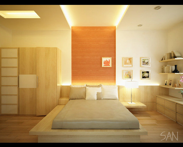 Vimeco apartment bedroom interior bach trong duc flickr - Beds for small space model ...
