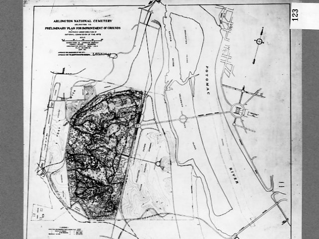 Map of Arlington National Cemetery | These plans for approac… | Flickr