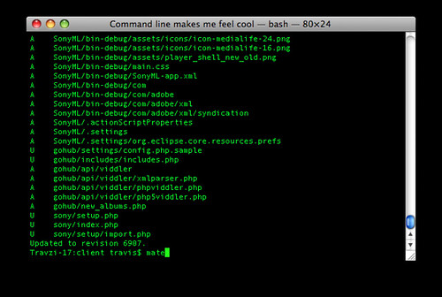 Command line makes me feel cool | by Travis Isaacs