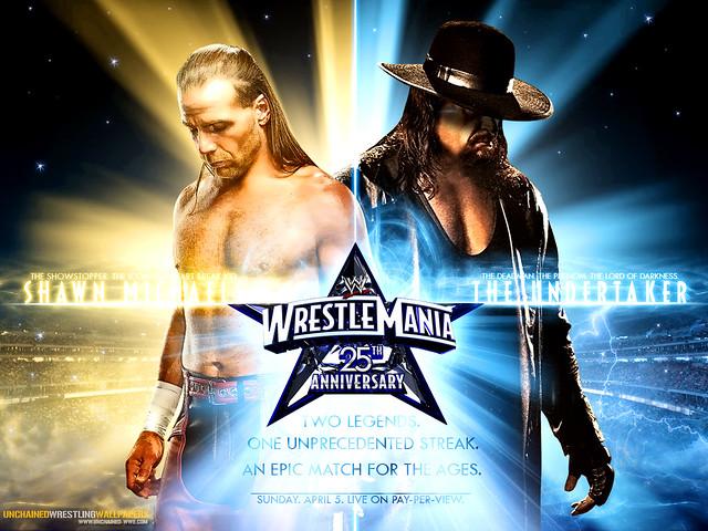 WWE Shawn Michaels Vs Undertaker Wallpaper