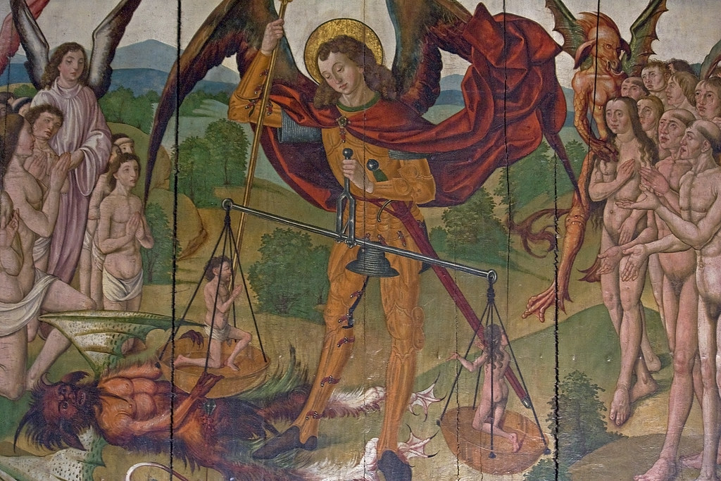 Image result for st michael weighing souls