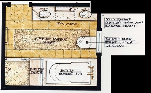 Planta baixa Banheiro  Candide Olson  Flickr  Photo Sharing! -> Planta De Banheiro Com Banheira Dupla