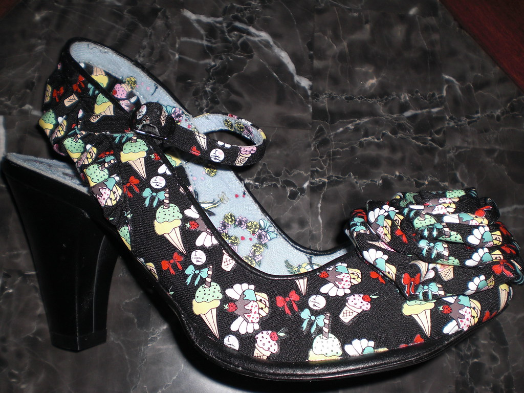 Irregular Choice White Lace Shoes