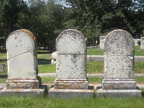Blank Tombstones Evergreen Cemetery Portland Maine