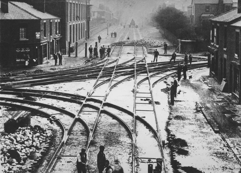 Laying Tram Lines Farnworth Deane Bolton Lancashire E