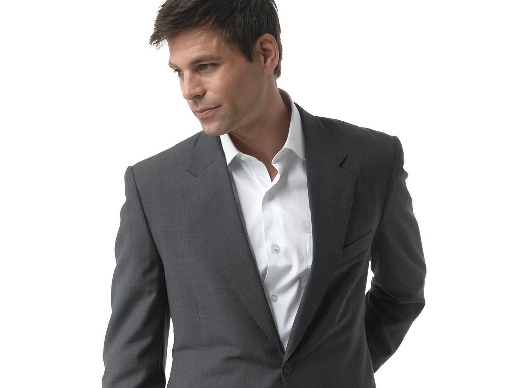 Dark grey suits