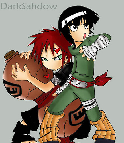 rock lee and gaara | I CrY WhEn aNgElS DeSeRv tO DiiE ... Gaara And Lee