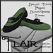 Flair-Ballet Flats-Pinned-Black Green Combo