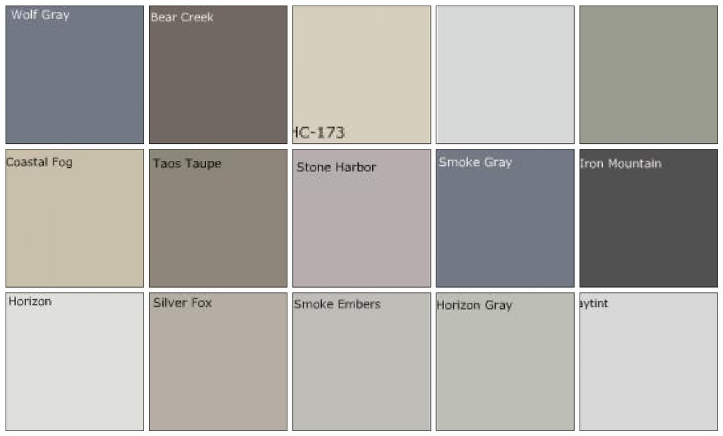Gray Paint Designers 39 Favorite Colors Top Row Left To