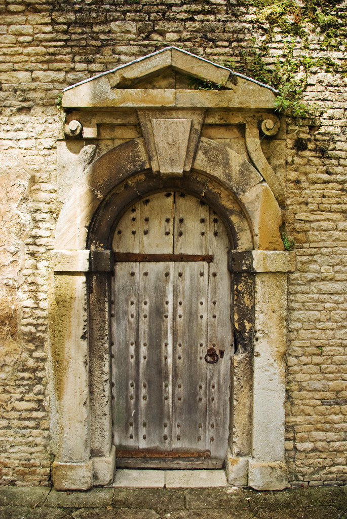 Safe And Sound An Ancient Oak Door In An Elizabethan