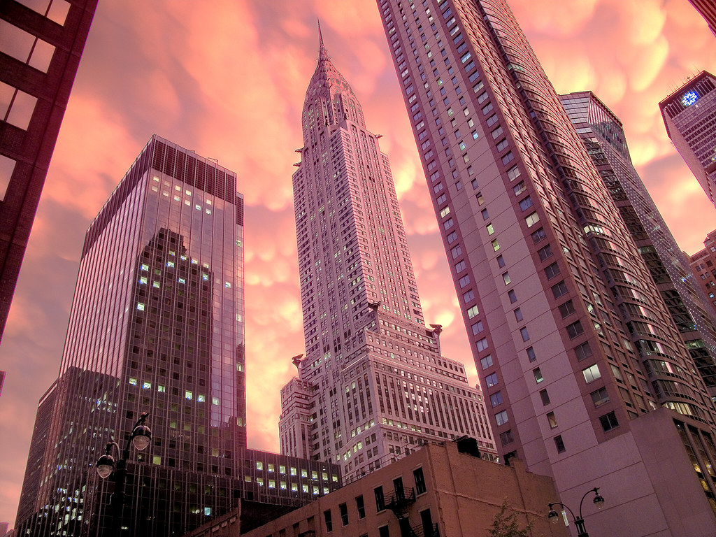 Chrysler Building Storm Sunset 2 The Dismal And Rainy