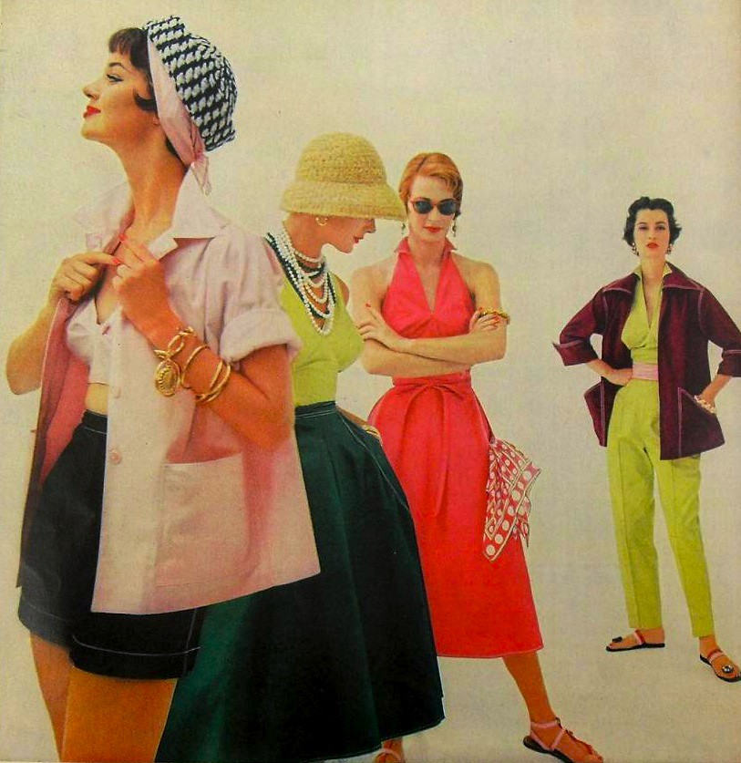 1954 Fashion Photo Women Sportswear Vintage 1950s From My Flickr