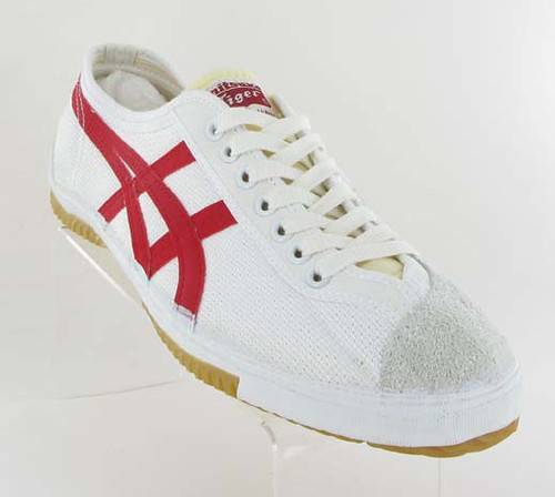 Red And White Asics Volleyball Shoes
