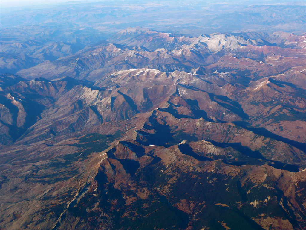 Southwest Colorado Mountains From Above Scorpions And