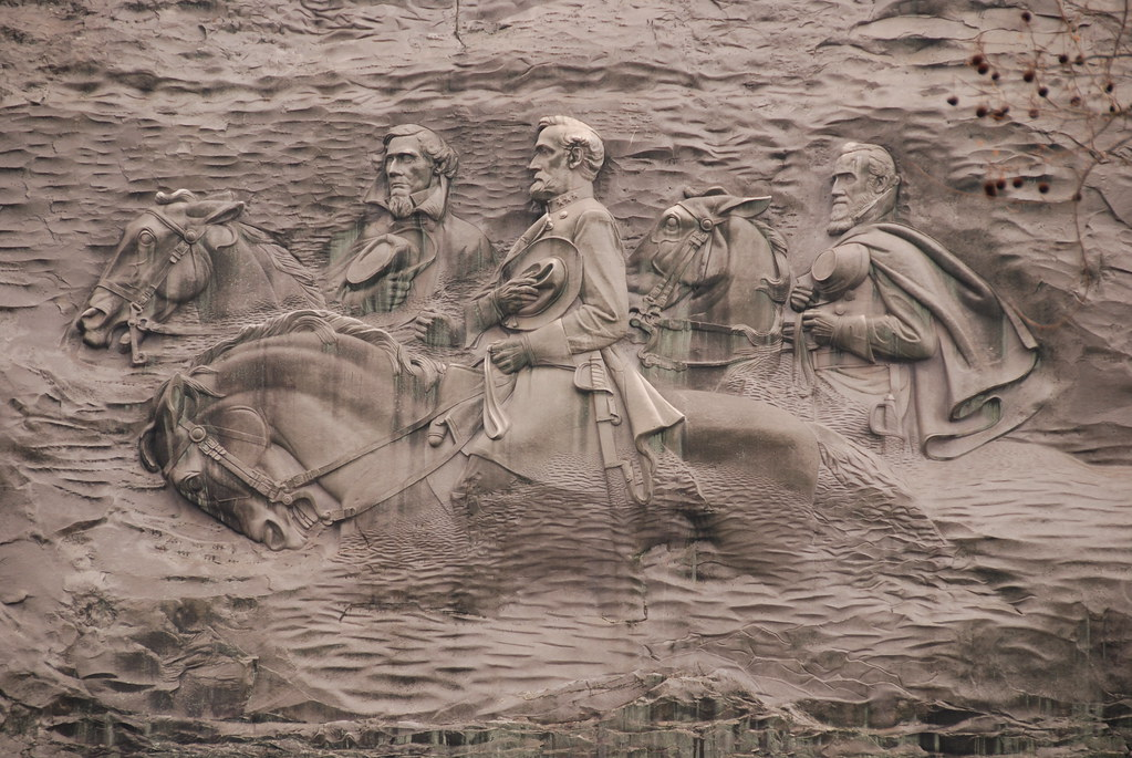 The carving on stone mountain park in