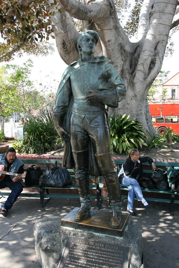 About >> Felipe de Neve Statue--Olvera Street | jellyjams | Flickr
