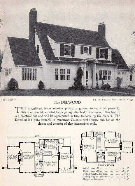 1928 Home Builders Catalog The Delwood