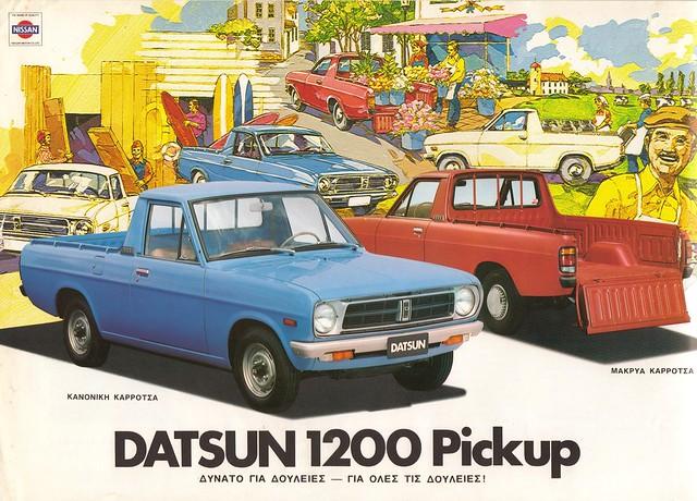 Datsun 1200 pickup in Greece   The Datsun 1200 pickup was ...