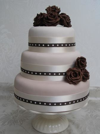 3 Tier Wedding Cake Graduated Colour 3 Teir Wedding Cake