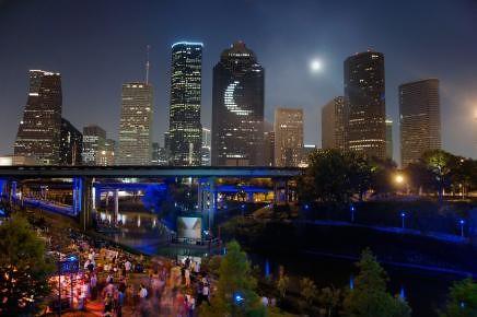 Houston Downtown Skyline And Buffalo Bayou Night Flickr