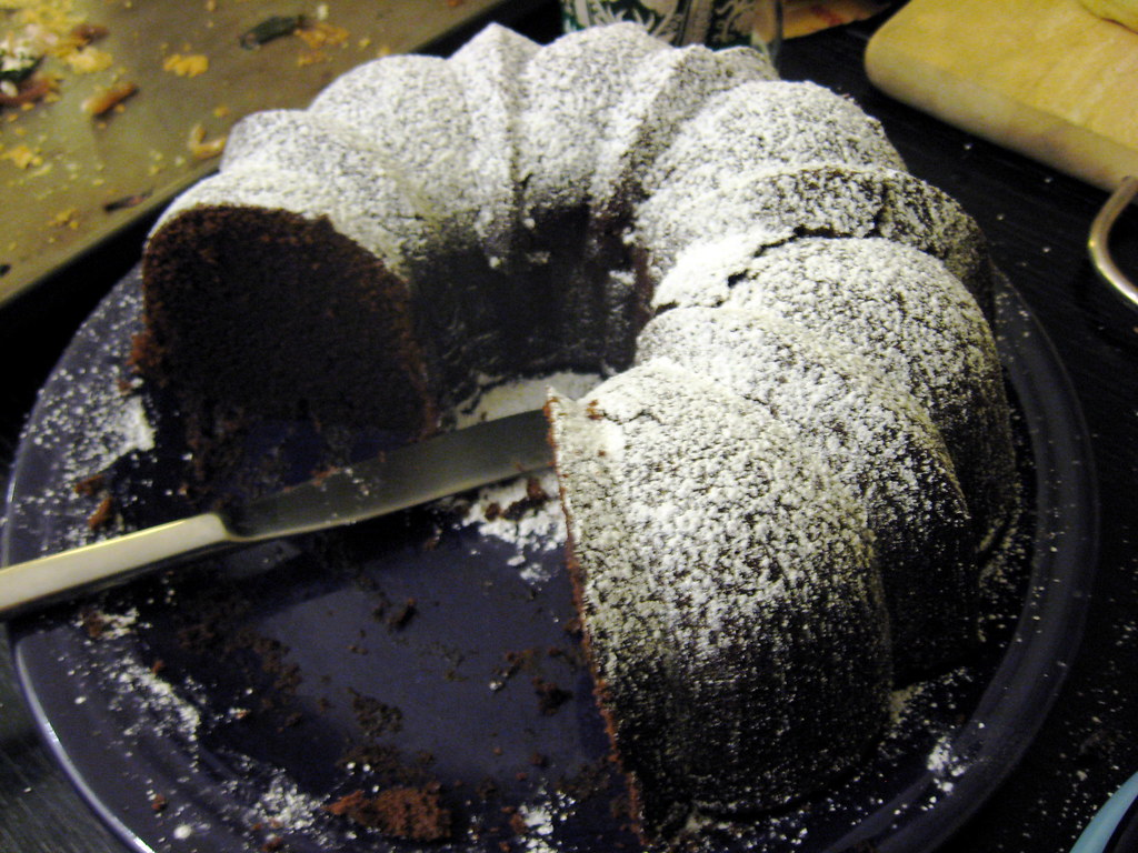 Bundt Cake With Blueberry Pie Filling