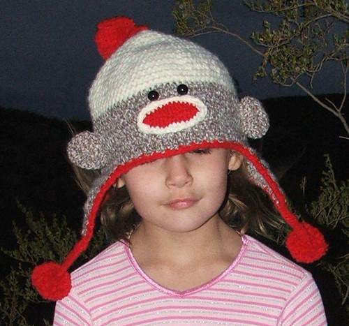 Crocheted Sock Monkey Ear Flap Hat Shelley Flickr