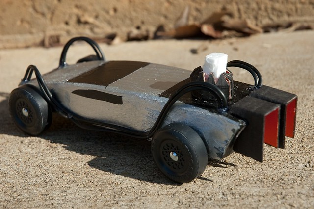 Pinewood BTTF DeLorean (back) | My Entry into the Parent's ...