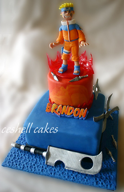 Naruto Cake Buttercream Covered In Fondant With