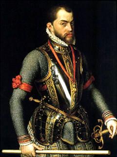 King Phillip II of Spain, grandson of Juana of Castile, Gr ...