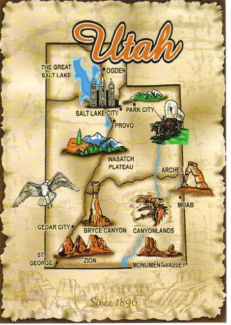 Utah Map Postcard  Erin  Flickr