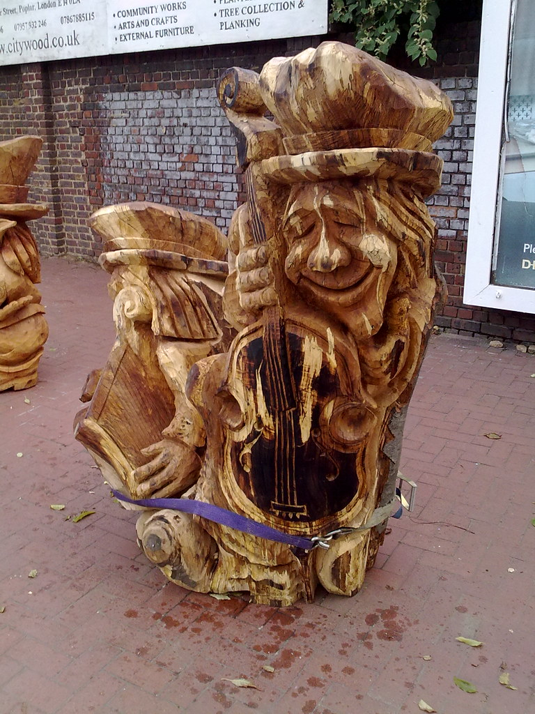 Wood carving gillender street london e gordon joly