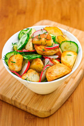 Potato Salad with Cucumbers, Radishes and Dill | by ImageliciousPhotography