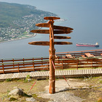 Sign at Narvik mountain