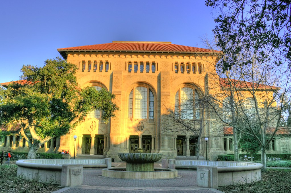 Green Library Stanford University Late Afternoon Sun On
