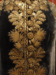 Elaborate gold embroidery on high-ranking French officer's uniform | by Monceau