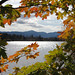 Colorful framed view of Lake Placid