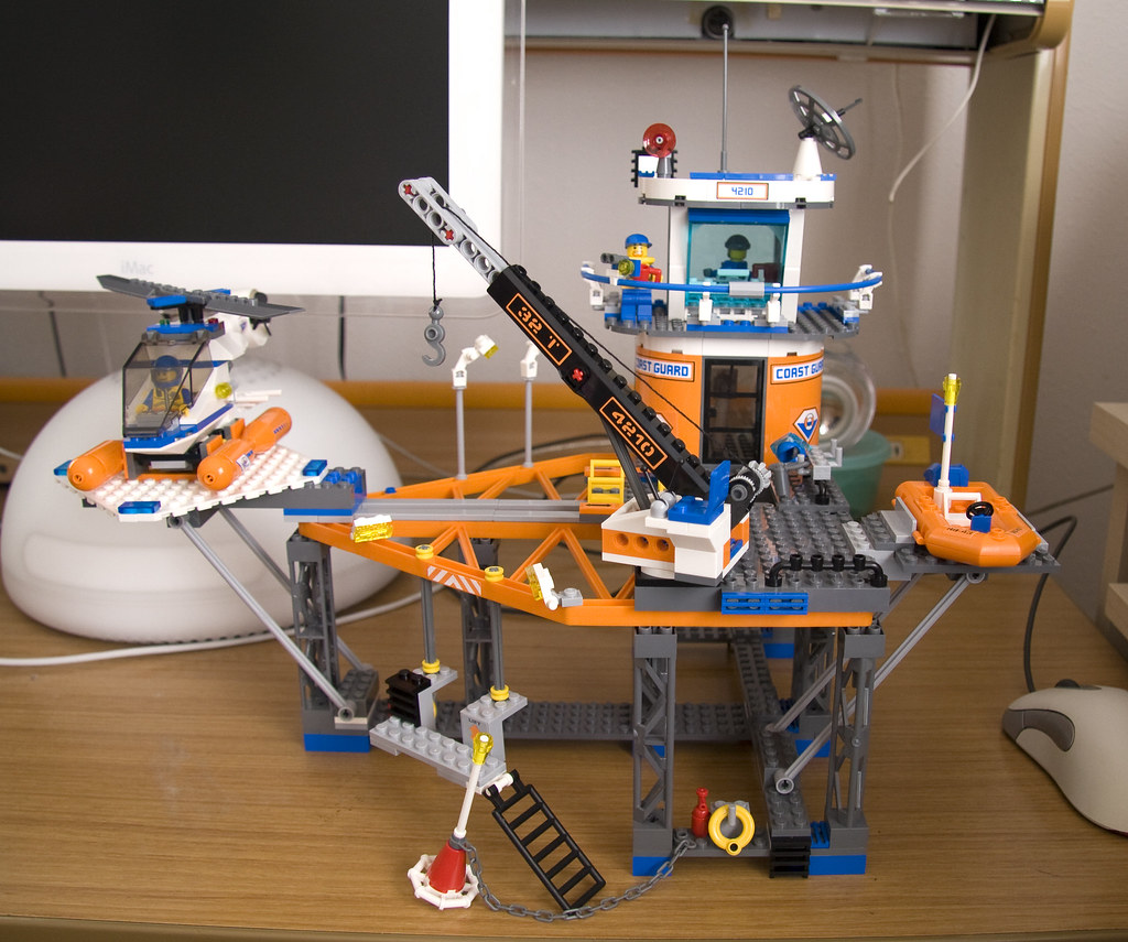 4210 Lego Coast Guard Platform Front This Is My Son S