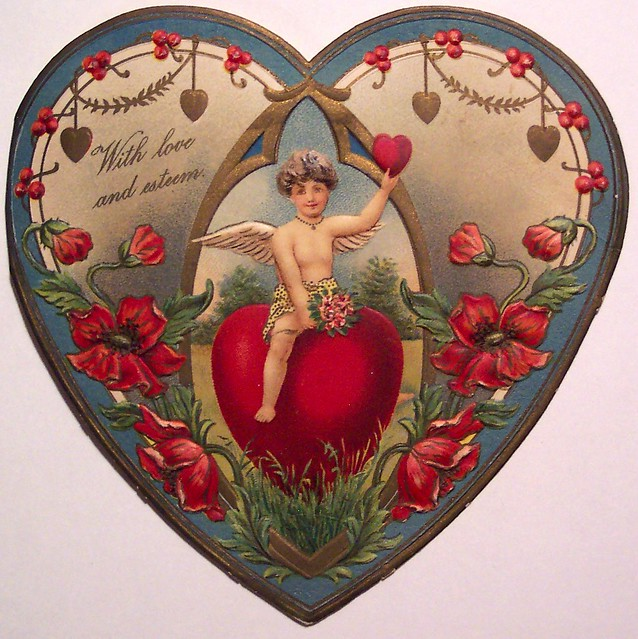 vintage valentines day card by riptheskull - Vintage Valentines Day
