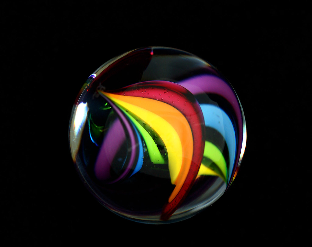 Bright Colored Marbles : Rainbow marble a swirl mattzcoz flickr