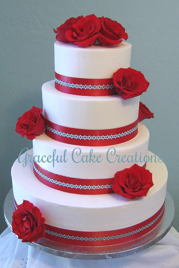 wedding cakes red white and blue white and blue wedding cake grace tari flickr 25360