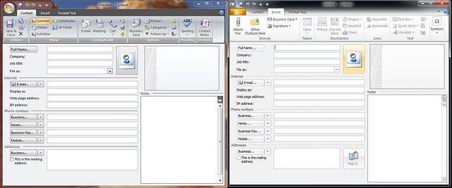 how to add contacts on outlook 2007