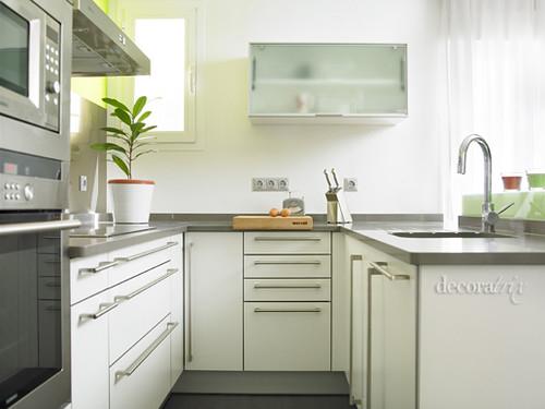 Muebles y electrodom sticos en forma de u la - Alicatar cocina detras muebles ...