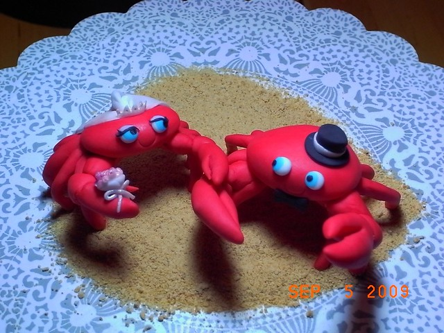 Crab Wedding Cake Toppers