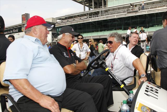 A J Foyt Rick Mears Mario Andretti Indianapolis Motor