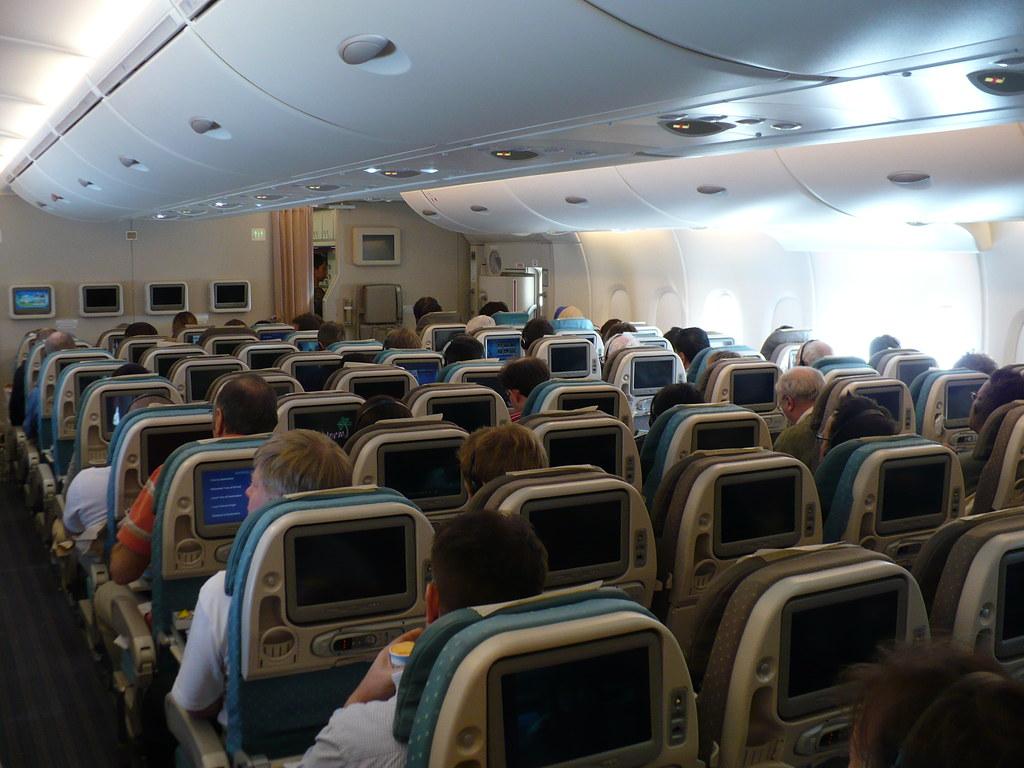Inside Singapore Airlines A380 Cabin | Rear economy cabin ...