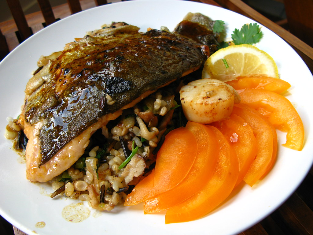 Detox breakfast toronto pan grilled fish whole grain for Pan grilled fish