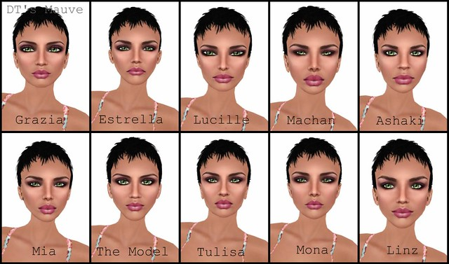 Facial Shape And Skin Color Comparison